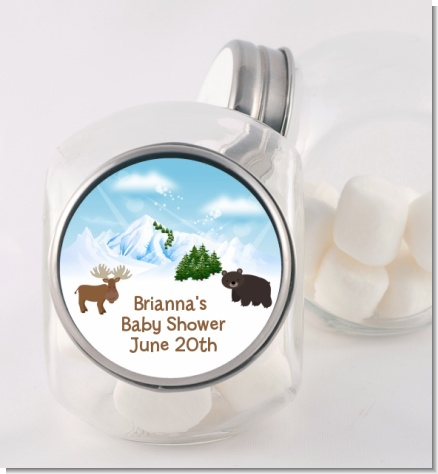 Moose and Bear - Personalized Baby Shower Candy Jar