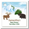 Moose and Bear - Personalized Baby Shower Card Stock Favor Tags thumbnail