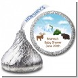 Moose and Bear - Hershey Kiss Baby Shower Sticker Labels thumbnail