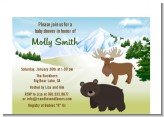 Moose and Bear - Baby Shower Petite Invitations