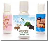 Moose and Bear - Personalized Baby Shower Lotion Favors