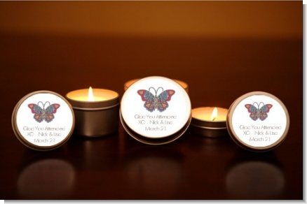 Mosaic Butterfly - Bridal Shower Candle Favors