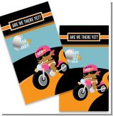 Motorcycle African American Baby Girl - Baby Shower Scratch Off Game Tickets