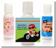 Motorcycle African American Baby Boy - Personalized Baby Shower Lotion Favors thumbnail