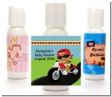 Motorcycle African American Baby Boy - Personalized Baby Shower Lotion Favors