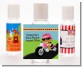 Motorcycle African American Baby Girl - Personalized Baby Shower Hand Sanitizers Favors thumbnail