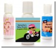 Motorcycle African American Baby Girl - Personalized Baby Shower Lotion Favors thumbnail