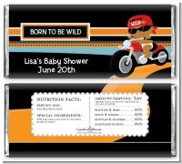 Motorcycle Baby - Personalized Baby Shower Candy Bar Wrappers