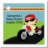 Motorcycle Baby - Personalized Baby Shower Card Stock Favor Tags