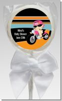 Motorcycle Baby Girl - Personalized Baby Shower Lollipop Favors