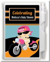 Motorcycle Baby Girl - Baby Shower Personalized Notebook Favor