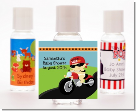 Motorcycle Baby - Personalized Baby Shower Hand Sanitizers Favors