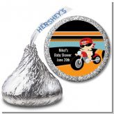 Motorcycle Baby - Hershey Kiss Baby Shower Sticker Labels