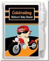 Motorcycle Baby - Baby Shower Personalized Notebook Favor