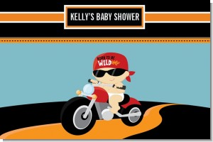Motorcycle Baby - Personalized Baby Shower Placemats
