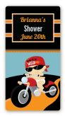 Motorcycle Baby - Custom Rectangle Baby Shower Sticker/Labels