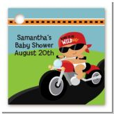 Motorcycle Hispanic Baby Boy - Personalized Baby Shower Card Stock Favor Tags