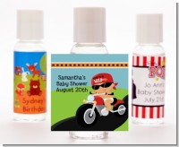 Motorcycle Hispanic Baby Boy - Personalized Baby Shower Hand Sanitizers Favors