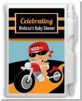 Motorcycle Hispanic Baby Boy - Baby Shower Personalized Notebook Favor