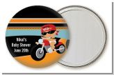 Motorcycle Hispanic Baby Boy - Personalized Baby Shower Pocket Mirror Favors
