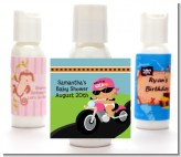 Motorcycle Hispanic Baby Girl - Personalized Baby Shower Lotion Favors