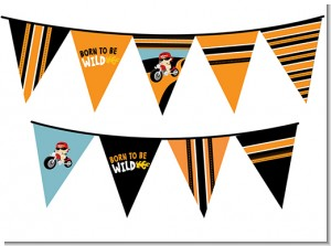 Motorcycle Baby - Baby Shower Themed Pennant Set