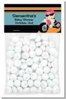 Motorcycle Baby Girl - Custom Baby Shower Treat Bag Topper