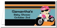 Motorcycle Baby Girl - Personalized Baby Shower Place Cards