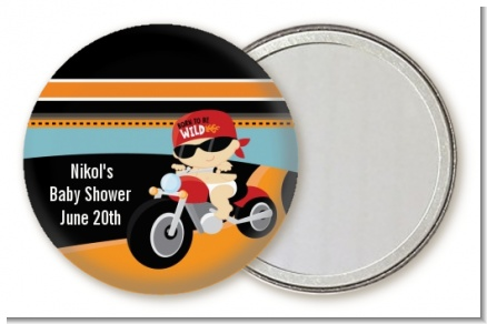 Motorcycle Baby - Personalized Baby Shower Pocket Mirror Favors
