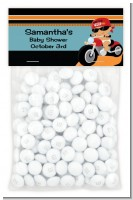 Motorcycle Hispanic Baby Boy - Custom Baby Shower Treat Bag Topper