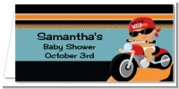 Motorcycle Hispanic Baby Boy - Personalized Baby Shower Place Cards