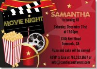 Movie Night - Birthday Party Invitations