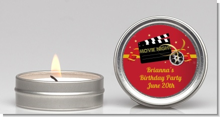 Movie Night - Birthday Party Candle Favors