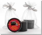 Movie Night - Birthday Party Black Candle Tin Favors