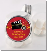 Movie Night - Personalized Birthday Party Candy Jar