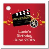 Movie Night - Personalized Birthday Party Card Stock Favor Tags