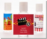 Movie Night - Personalized Birthday Party Hand Sanitizers Favors