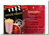Movie Night - Birthday Party Petite Invitations