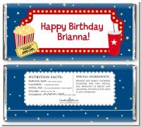 Movie Theater - Personalized Birthday Party Candy Bar Wrappers