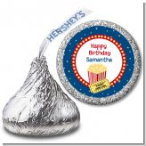 Movie Theater - Hershey Kiss Birthday Party Sticker Labels