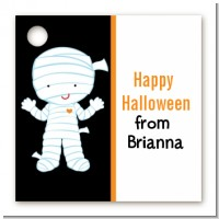 Mummy Costume - Personalized Halloween Card Stock Favor Tags