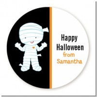 Mummy Costume - Round Personalized Halloween Sticker Labels
