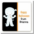 Mummy Costume - Square Personalized Halloween Sticker Labels thumbnail