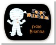 Mummy Costume - Personalized Halloween Rounded Corner Stickers thumbnail