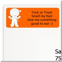 Mummy Costume - Halloween Return Address Labels