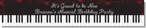 Musical Notes Black and White - Personalized Birthday Party Banners