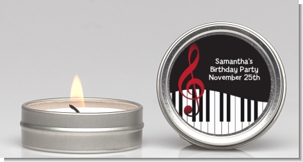 Musical Notes Black and White - Birthday Party Candle Favors