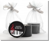 Musical Notes Black and White - Birthday Party Black Candle Tin Favors
