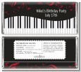 Musical Notes Black and White - Personalized Birthday Party Candy Bar Wrappers thumbnail