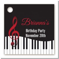 Musical Notes Black and White - Personalized Birthday Party Card Stock Favor Tags
